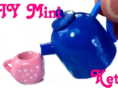 DIY Miniature Doll Working Tea Pot w. Liquid
