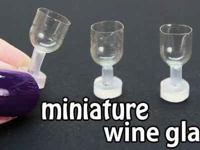 DIY miniature dollhouse wine glass.cups REALLY works with liquid