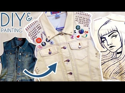 DIY & PAINTING On My Denim Vest. Emma Maree