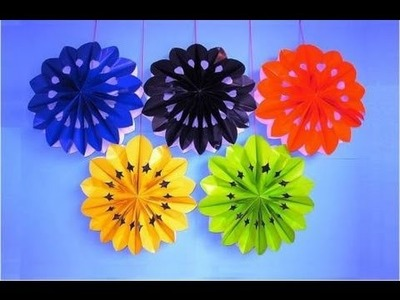 DIY Party Decorations | Easy Crafts for Kids | 3D Paper Flowers,Stars,Snowflakes | Paper Bag Crafts