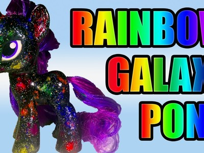 DIY RAINBOW GALAXY MLP Tutorial || Nail Polish vs Acrylic Paint My Little Pony