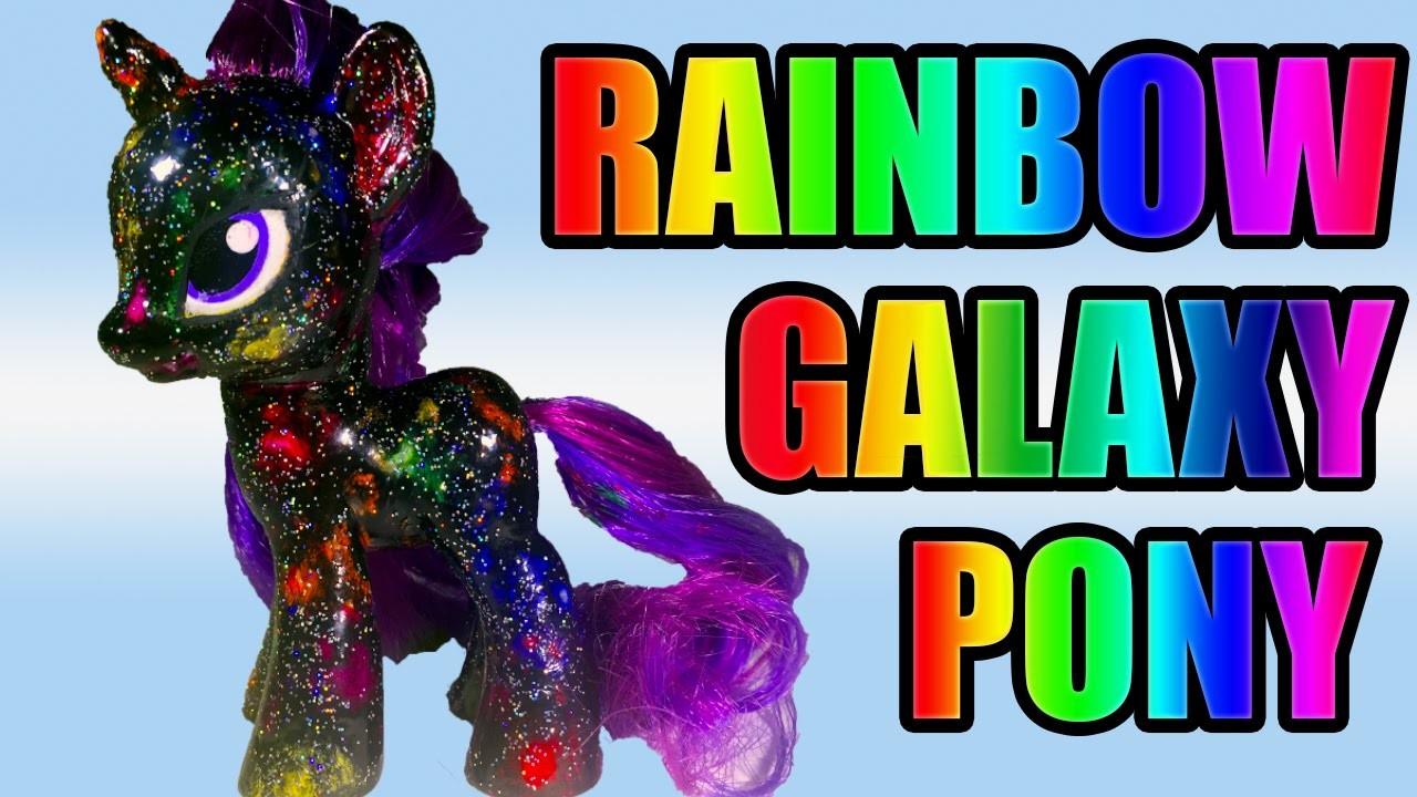 DIY RAINBOW GALAXY MLP Tutorial || Nail Polish vs Acrylic Paint My Little Pony