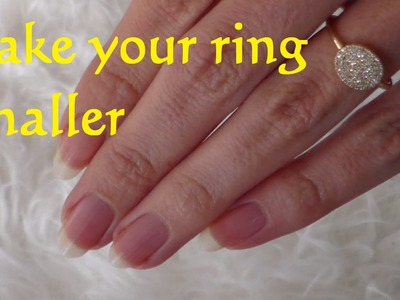 DIY Resize Ring smaller - How To Make a Ring Smaller - Lifehack resize a Ring
