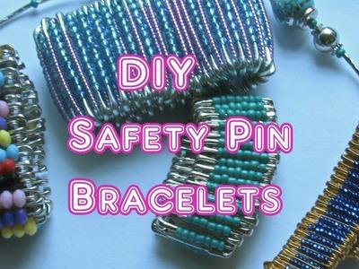 DIY Safety Pin Bracelets - How To Make Safety Pin Bracelet Tutorial
