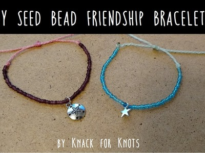 DIY Seed Bead Wax String Friendship Bracelets | Tutorial Inspired by Pura Vida Bracelets!