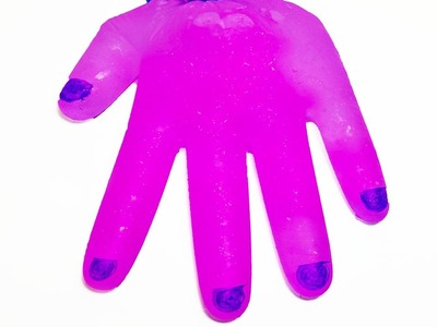 DIY: SLIME HANDS!! Glow in the dark and pink glitter! SO CREEPY!!