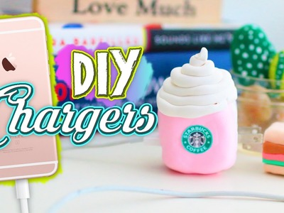 DIY Starbucks & Burger Phone Charger!! Make a Cute & Cheap DIY Phone Charger!!. Jill Cimorelli
