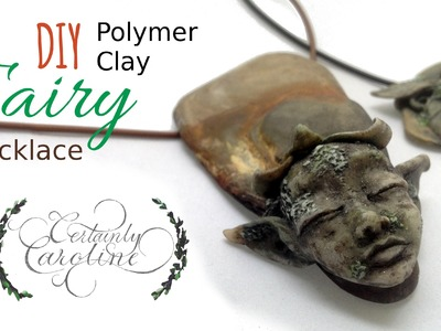 DIY Stone Fairy Necklace; Polymer Clay Jewelry Tutorial