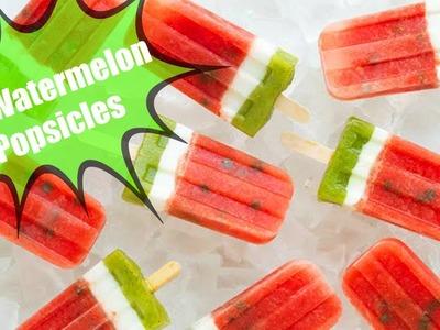DIY Summer Watermelon Popsicles
