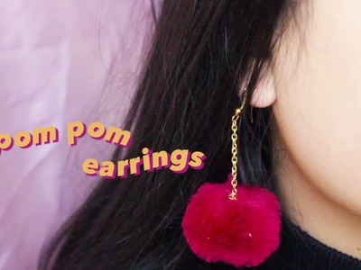 DIY Tutorial: Pom Pom Earrings | Pastels