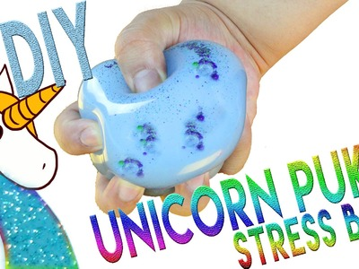 DIY | Unicorn Puke Stress Ball - HOW TO MAKE A GLITTER STRESS BALL!!!