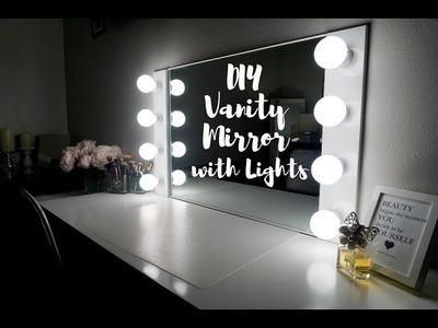 DIY VANITY MIRROR WITH LIGHTS [UNDER $100!!!] || SimplySandra