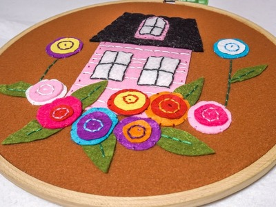 DIY Wall Hanging for Kids Room | Embroidery Hoop Art | HandiWorks #66