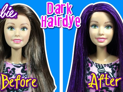 DOES IT WORK? How to Color Barbie Doll Dark Hair - DIY - Making Kids Toys