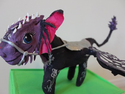 Ever After High Dragon Games NEVERMORE Raven Queen's Dragon Custom DIY Doll Tutorial Dobertot
