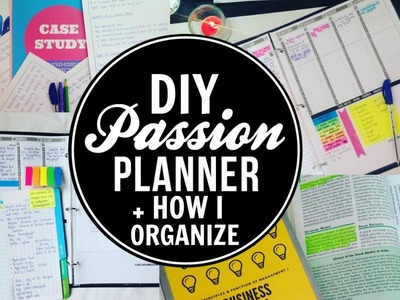 How I Organize My Planner + DIY Planner Binder and Cover 2016-2017!