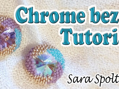 How to bezel a Rivoli - Google Chrome bezel with beads - DIY beaded earrings