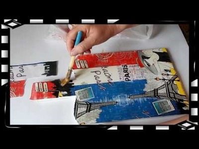 How to Decoupage  with Napkins Decoupage tutorial for beginners - DIY