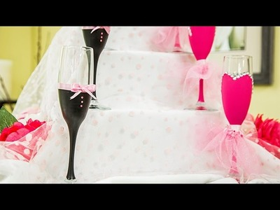 How To - DIY Decorative Champagne Flutes – Hallmark Channel