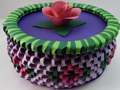 How to make a 3D Origami box with flowers DIY (tutorial + free pattern)