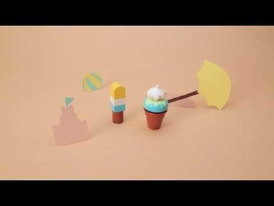 How to make an Ice Cream Cone - LEGO DUPLO - DIY Stop Motion
