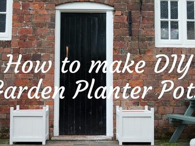 How to make DIY garden planters
