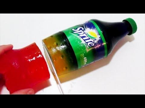 How to Make Sprite Rainbow Bottle Jelly Gummy Fun & Easy DIY Homemade Jello Pudding Dessert