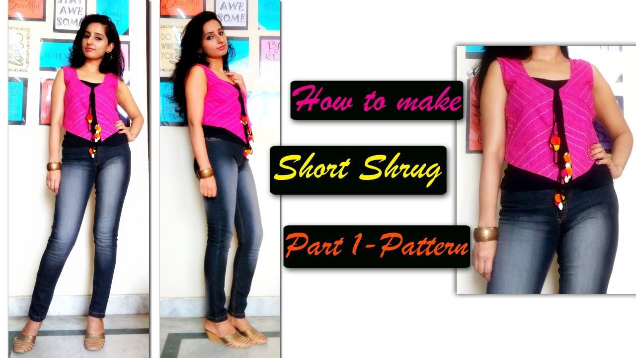 How to Sew Bolero Jacket. Short Shrug  (Part-1 Pattern)