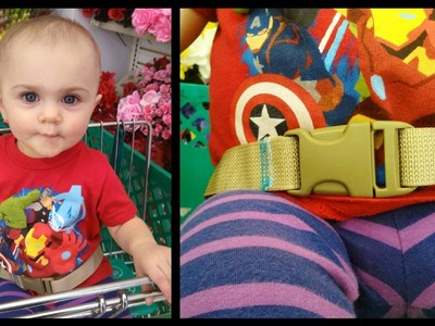 How to Shopping Cart Safety Belt DIY - Whitney Sews