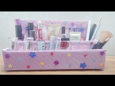 Makeup holder by paper DIY