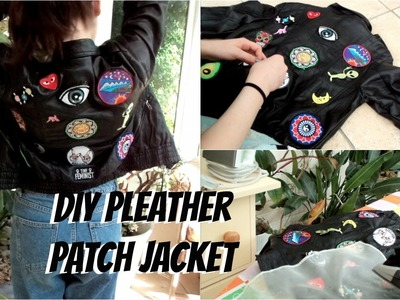 Making Mika's d.i.y pleather patch jacket!!