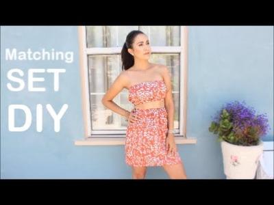 Matching Set DIY: Crop Top & High Waisted Skirt