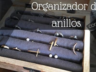 Organizador de anillos con papel (Box Jewelry DIY)