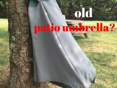 Painted Umbrella DIY - Easy Refresh for an Old Patio Umbrella!