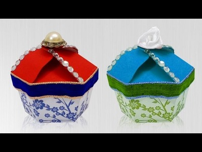 Paper Crafts : How to Make Handmade Gift Box | DIY Paper Cupcake Box for Kids