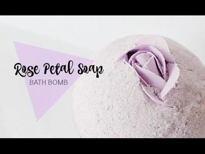 ROSE PETAL SOAP BATH BOMB DIY - Real SOAP!