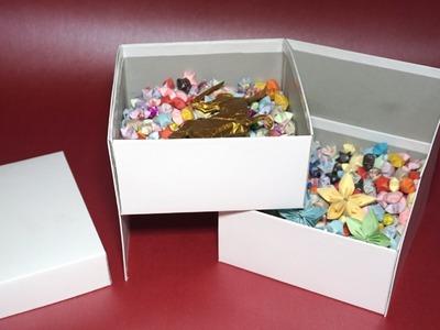 Very cool 2 tier gift box tutorial - DIY
