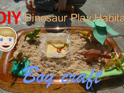 30 Days of Ramadan Crafts Day 23- DIY Dinosaur Play Habitat (Boys craft)