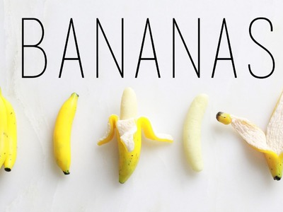 Bananas : Polymer Clay Fruit Tutorial : Miniature DIY