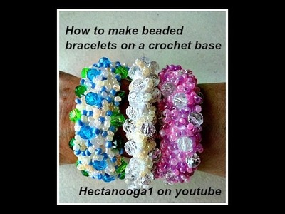 BEADED BRACELETS, How to make a beaded bracelet on a crochet base,