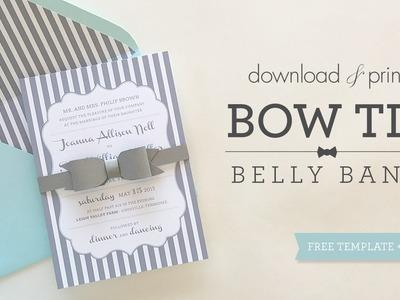 Bowtie Belly Band | DIY Wedding Invitations