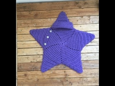 Capullo estrella tejido a crochet muy facil. Cocoon star crochet very easy