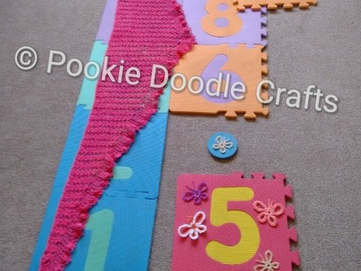 Cheap Blocking Mat Idea for Blocking Knitting and Crochet Projects