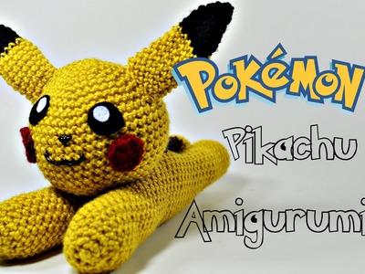"""Crochet Pokémon """"Flat"""" Pikachu Amigurumi Tutorial"""