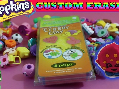 Custom Shopkins Erasers! DIY Kookie Cookie Eraser + Clicky Mouse & More | Crafts Clay Project