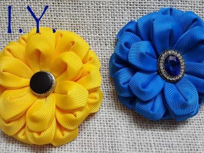 D.I.Y. New Grosgrain Kanzashi Zennia Flower | MyInDulzens