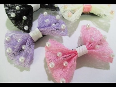 DIY : #138 Lace Hair Clip with PEARL ♥