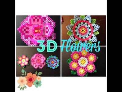 DIY 3D Perler Bead Flowers.2 Different Pretty and Fun Designs!!