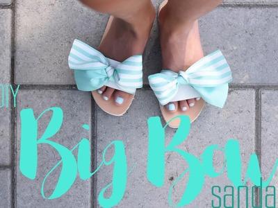 DIY Big Bow Sandals Tutorial