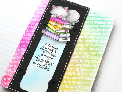 DIY Bookmark Card (Zig Clean Color Real Brush Markers Series #1)